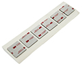 .062 White Double Sided Foam Adhesive Tabs (6) 1in. x 1in. Tabs to a Strip