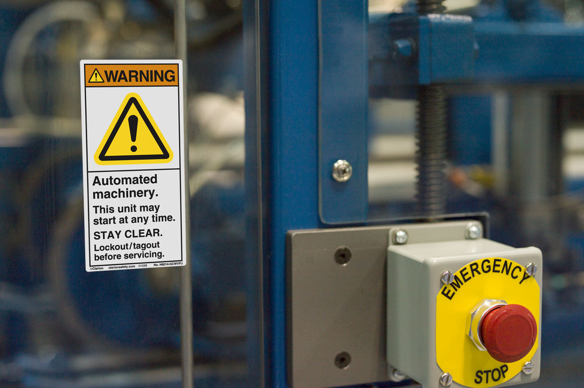 Automated Machinery Warning Label