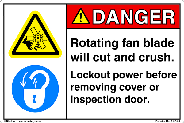 Updated Lockout/Tagout Safety Label