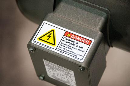 Hazardous Voltage Danger Label