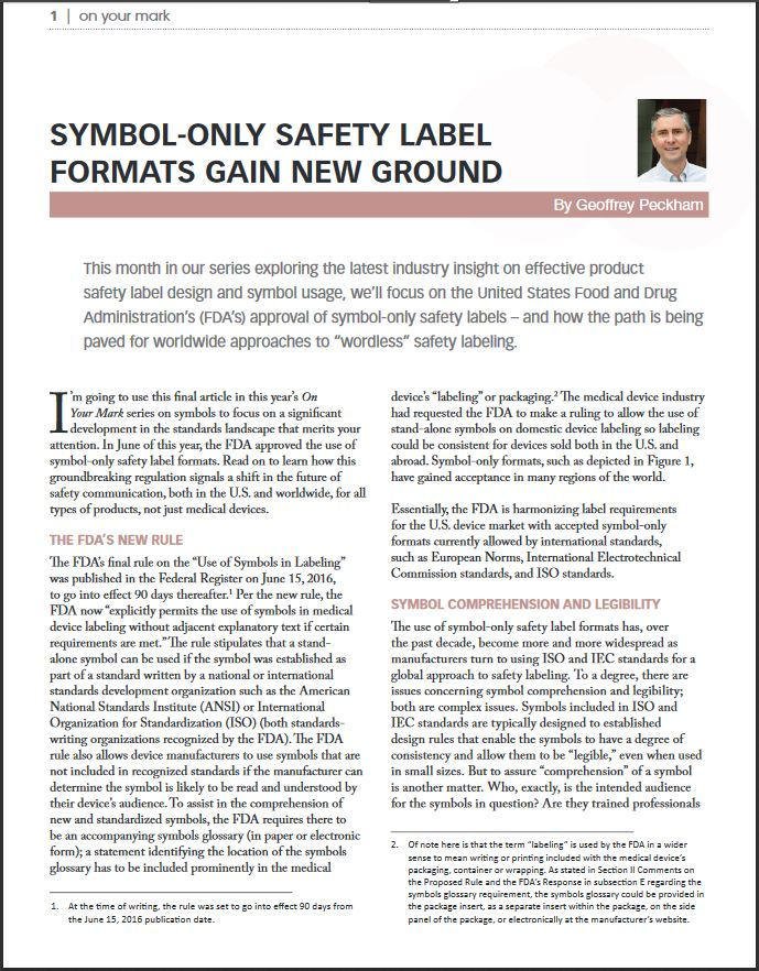 Symbol Only Safety Label Formats Gain New Ground Clarion Safety
