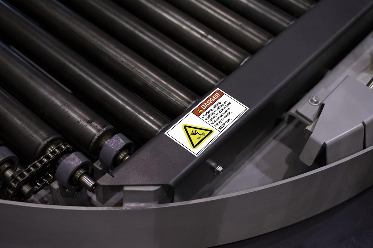 Roller Hazard Full Body Fall Label