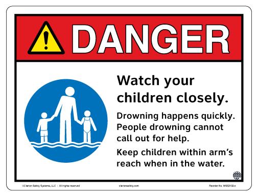 Aquatic Facility Swim Safety Sign