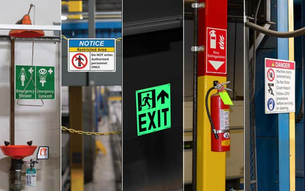 facility safety sign system