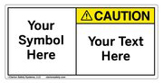 Custom Caution Label Symbol and Text