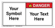 Custom Danger Label Symbol and Text