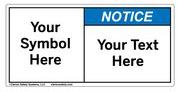 Custom Notice Label Symbol and Text