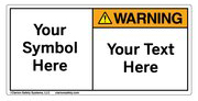 Custom Warning Label Symbol and Text