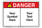 Custom Danger Sign Symbol and Text