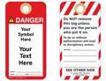 Custom Danger Tag Symbol and Text