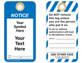 Custom Notice Tag Symbol and Text