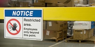 Security and Company Policy Signs
