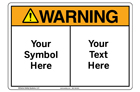 Custom Warning Sign Symbol and Text