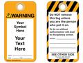 Custom Warning Tag Symbol and Text